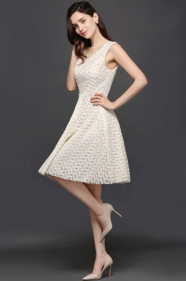Princess Scoop neck Knee-length Lace Sexy Prom Dress_5