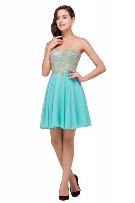 A-line Sleeveless Short Chiffon Prom Dresses with Appliques_4
