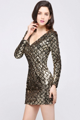 ALONDRA | Sheath V-Neck Sequins Cocktail Dresses_6