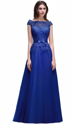AUBREE | A-line Floor-Length Tulle Prom Dress With Lace Appliques_4