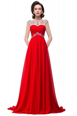AINSLEY | A-line Sweetheart Chiffon Evening Dress With  Crystal_2