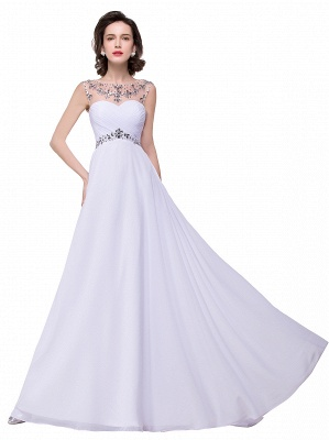 AINSLEY | A-line Sweetheart Chiffon Evening Dress With  Crystal_11