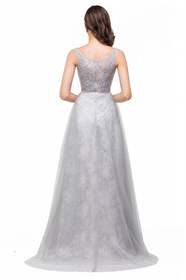 A-Line Sleeveless Illusion Floor-Length Tulle Prom Dresses with Embroidered Flowers_3