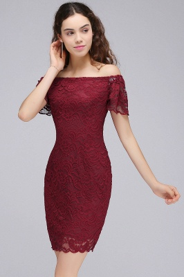 CAMRYN | Sheath Off-the-Shoulder Short Lace Burgundy Homecoming Dresses_6