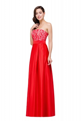 EVERLY   A-line Sleeveless Sweetheart Floor-Length Red Chiffon Prom Dresses_5