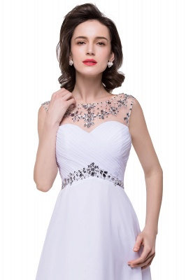 AINSLEY | A-line Sweetheart Chiffon Evening Dress With  Crystal_9