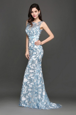 Mermaid Sweep Train Lace Evening Dresses_7