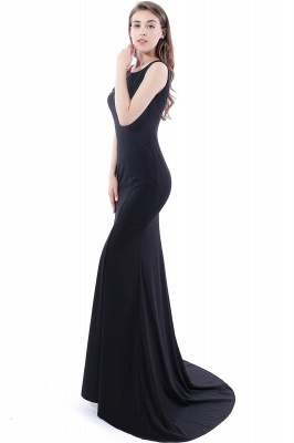 DALARY | Mermaid Jewel Court-Train Embroidery Black Prom Dresses with Pearls_4
