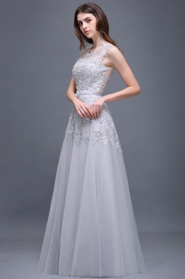ADDILYN | A-line Floor-length Tulle Prom Dress with Appliques_12