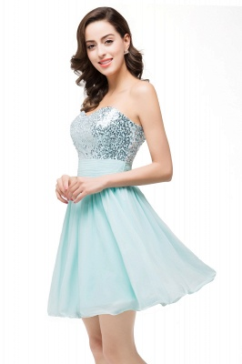 ESTELLA | A-line Sweetheart Sleeveless Chiffon Short Prom Dresses with Sequins_7