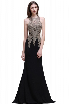 BROOKLYNN | Mermaid Black Prom Dresses with Lace Appliques_5