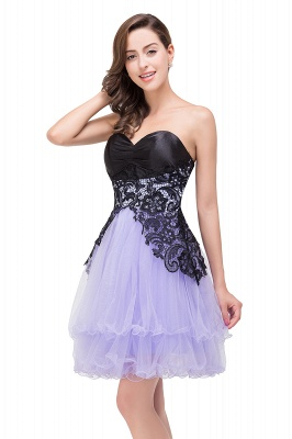 A-line Bowknot-Sash Lace-Up-Back Homecoming Dresses_2