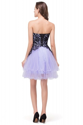 A-line Bowknot-Sash Lace-Up-Back Homecoming Dresses_3