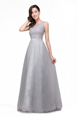 A-Line Sleeveless Illusion Floor-Length Tulle Prom Dresses with Embroidered Flowers_4