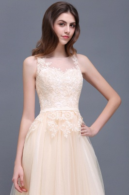 ATHENA   A-line Floor-Length Tulle Prom Dress With Lace_10