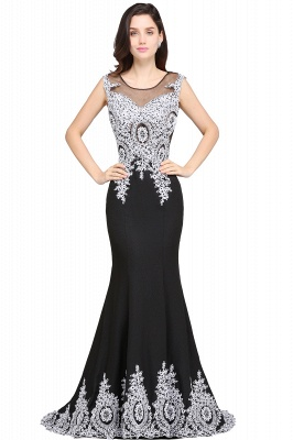 ARIYAH | Mermaid Scoop Black Pretty Evening Dresses with Appliques