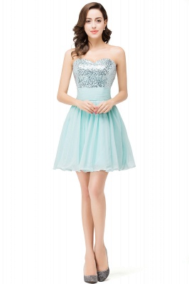 ESTELLA | A-line Sweetheart Sleeveless Chiffon Short Prom Dresses with Sequins_1