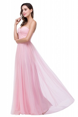 ADRIANNA | A-line Sweetheart Tulle Bridesmaid Dress with Draped_6