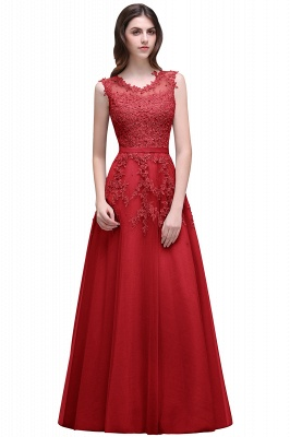 ADDILYN | A-line Floor-length Tulle Prom Dress with Appliques_2