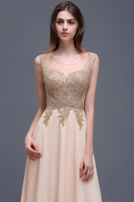 ALAYNA | Sheath Jewel Long Chiffon Evening Dresses With Applique_4