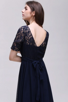 AUBRIELLE | A-line Scoop Chiffon Elegant Prom Dress With Lace_14