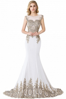 ADALINE | Mermaid Court Train Chiffon Evening Dress with Appliques_1