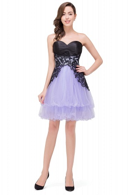 A-line Bowknot-Sash Lace-Up-Back Homecoming Dresses_7