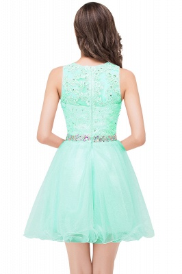 ABBY | A-line Knee-length Tulle Prom Dress with Appliques&Crystal_8