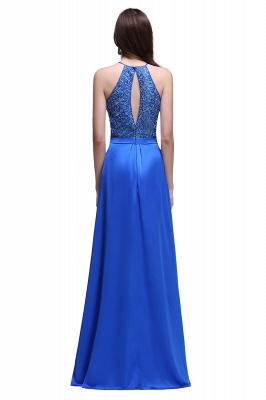 CALLIE | A-line Halter Neck Chiffon Royal Blue Prom Dresses with Sequins_3