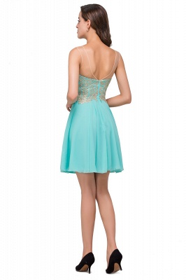A-line Sleeveless Short Chiffon Prom Dresses with Appliques_3