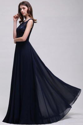 AUDRINA | A-line Scoop Chiffon Prom Dress With Lace_11