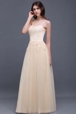 AUBRIANNA | Aline Floor Length Tulle Prom Dress With Appliques_4