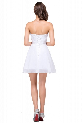 A-line Sweetheart Short Prom Dresses with Beadings_3