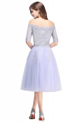 A-line Bateau Tulle Prom Dress with Appliques_3