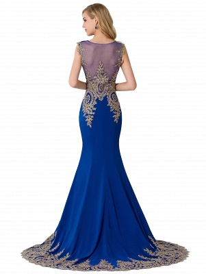 ADALINE | Mermaid Court Train Chiffon Evening Dress with Appliques_8
