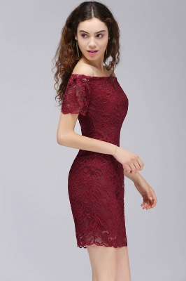 CAMRYN | Sheath Off-the-Shoulder Short Lace Burgundy Homecoming Dresses_5