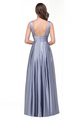 Sexy Evening Gowns Deep V Neck Beaded Pageant Dresses_3