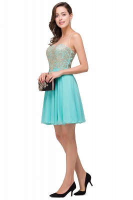 A-line Sleeveless Short Chiffon Prom Dresses with Appliques_6
