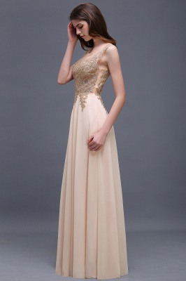 ALAYNA | Sheath Jewel Long Chiffon Evening Dresses With Applique_8
