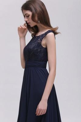 AUDRINA | A-line Scoop Chiffon Prom Dress With Lace_7