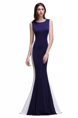 Mermaid Long Dark Navy Simple Prom Gowns