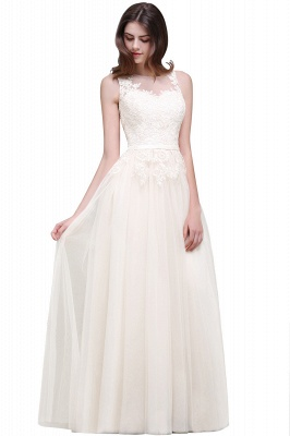ATHENA   A-line Floor-Length Tulle Prom Dress With Lace_1