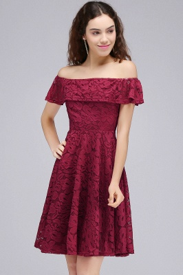 BRIAR | A-Line Off-the-shoulder Lace Burgundy Homecoming Dresses_5