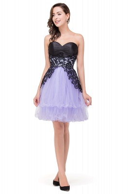 A-line Bowknot-Sash Lace-Up-Back Homecoming Dresses_5