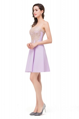 ESTHER | A-line Sleeveless Chiffon Short Prom Dresses with Appliques_8