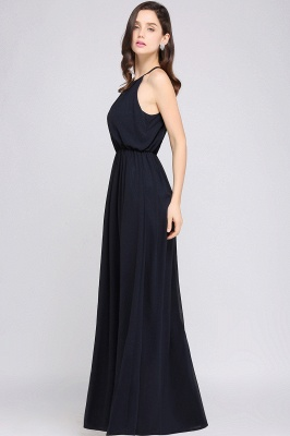 CHEYENNE | A-line Floor-length Chiffon Navy Blue Simple Prom Dress_14