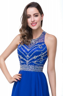 ELLA | A-line Crew Floor-length Sleeveless Tulle Prom Dresses with Crystal Beads_11