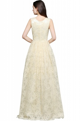 A-line Scoop Floor Length Evening Dress With Lace_3