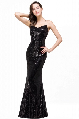 Mermaid Sleeveless Sweetheart Floor-length Prom Dress with Sequins
