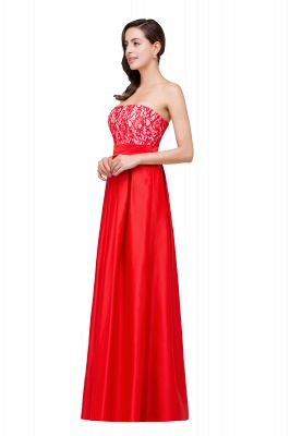 EVERLY   A-line Sleeveless Sweetheart Floor-Length Red Chiffon Prom Dresses_4